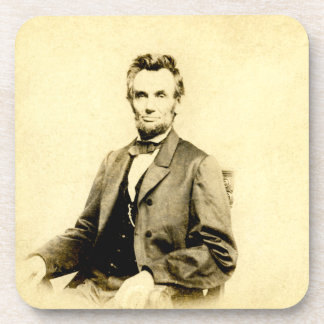 RARE President Abraham Lincoln STEREOVIEW VINTAGE Drink Coaster
