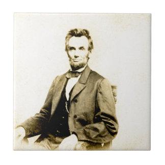 RARE President Abraham Lincoln STEREOVIEW VINTAGE Tile