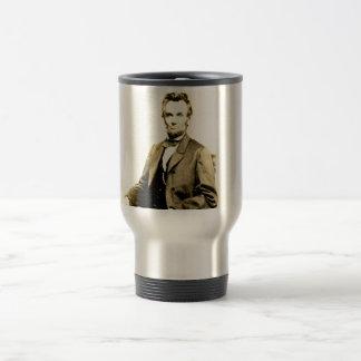 RARE President Abraham Lincoln STEREOVIEW VINTAGE Travel Mug