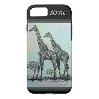 Rare Retro African Giraffes in High Color Design iPhone 7 Case