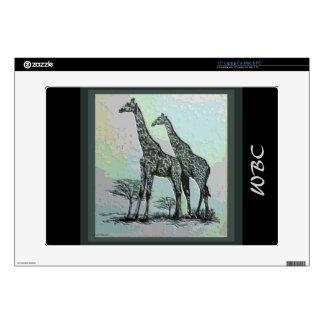 Rare Retro African Giraffes in High Color Design Skin For Laptop