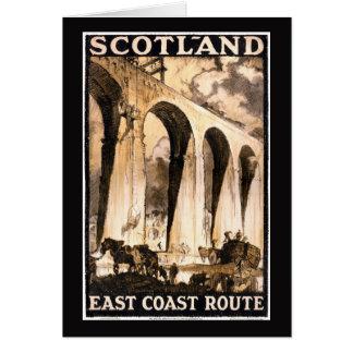Rare Scotland Vintage Travel Poster Restored Card