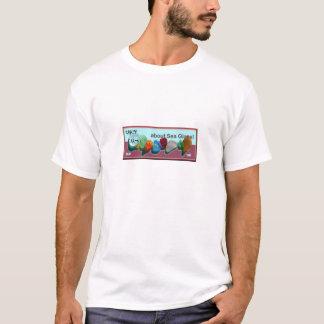 Rare_sea_glass_colors blue-fuschia stamp bkgrnd T-Shirt