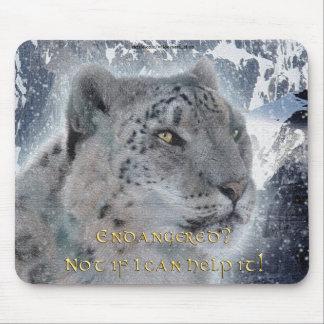 Rare Snow Leopard & Mountains Mousemat Mouse Pad