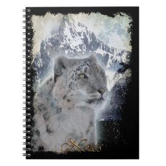 Rare Snow Leopard Wildlife-supporter Notebook