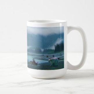 Rare Spirit Bear and Misty BC River Classic White Coffee Mug
