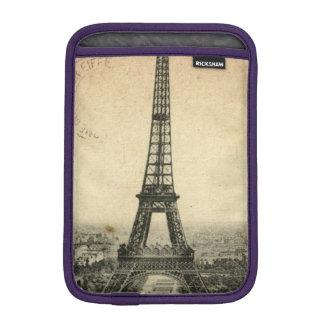 Rare vintage postcard with Eiffel Tower in Paris iPad Mini Sleeve