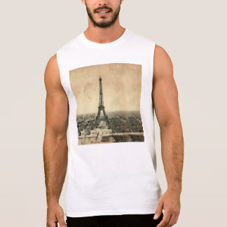 Rare vintage postcard with Eiffel Tower in Paris Sleeveless Shirt