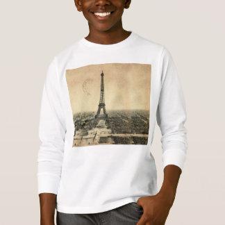 Rare vintage postcard with Eiffel Tower in Paris T-Shirt