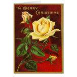 Rare Vintage Roses Christmas Card