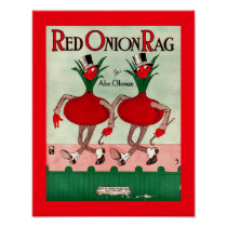 Rare Vintage Sheet Music Cover Copy RED ONION RAG
