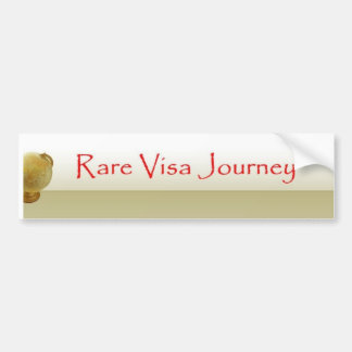 Rare Visa Journey w/globe Bumper Sticker