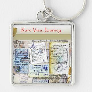 Rare Visas Collage keychain