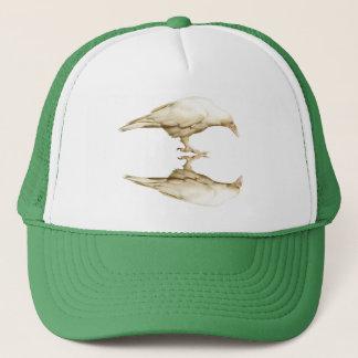 Rare White (leucystic) Raven for Bird-lovers Trucker Hat