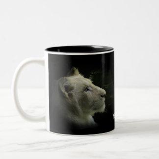 Rare White Lion Wild Cat Lion-Lover Coffee Mug