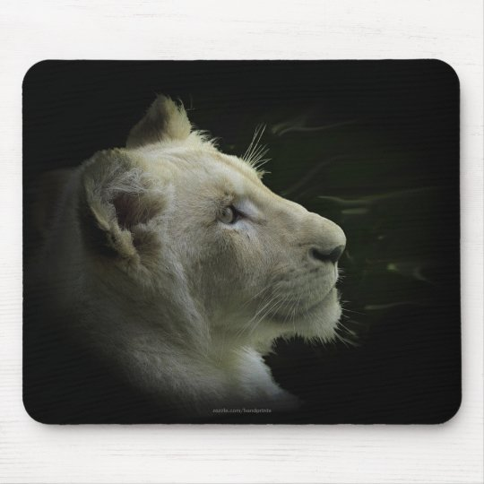 Rare White Lion Wild Cat Lion-Lover Mousepad