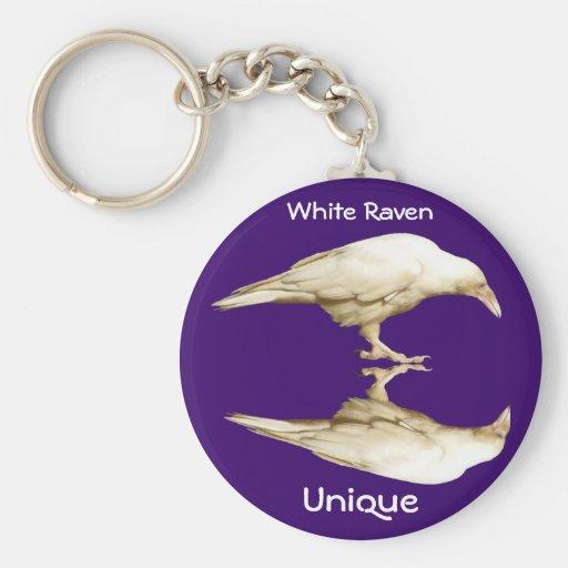 Rare White Raven ~ 2010 Basic Round Button Keychain