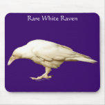 Rare White Raven ~ 2010 Mouse Pads