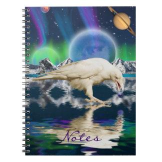 Rare White Raven Fantasy Art Notebook