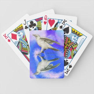 Rare White Raven Fantasy Photo Art Bicycle Playing Cards