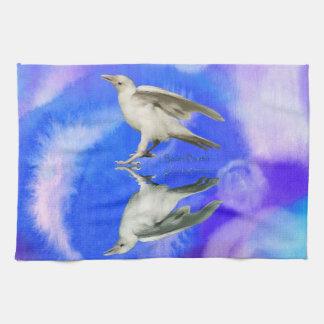 Rare White Raven Fantasy Photo Art Hand Towel