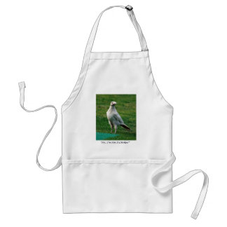 Rare White Raven Gifts Adult Apron