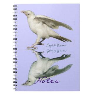 Rare White Raven & Reflection Art Notebook