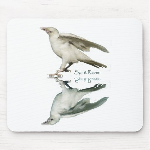 RARE WHITE RAVEN(S) MOUSE PADS