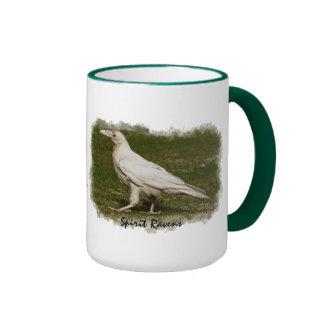 Rare White Raven Wildlife Photo Art Ringer Mug