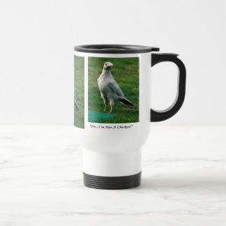 Rare White Raven Wildlife Photo Travel Mug