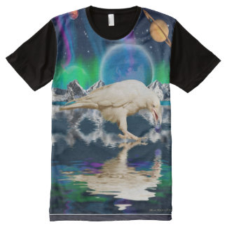 Rare White Spirit Raven Fantasy Art All-Over Print Shirt