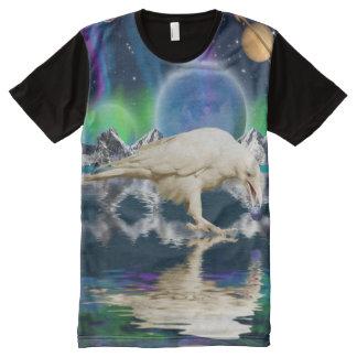 Rare White Spirit Raven Fantasy Art All-Over Print T-shirt