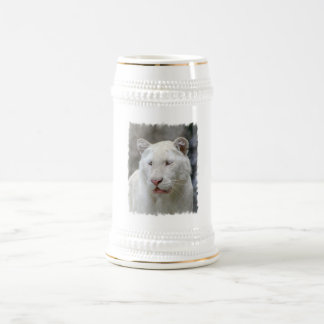 Rare White Tiger Beer Stein Coffee Mug
