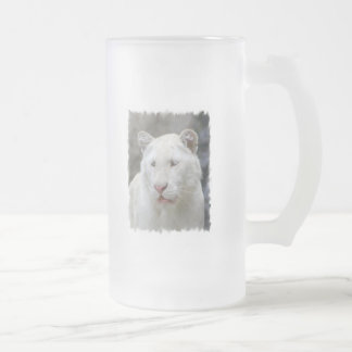 Rare White Tiger Frosted Beer Mug