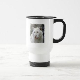 Rare White Tiger  Plastic Travel Mug