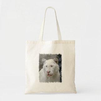 Rare White Tiger  Small Canvas Bag