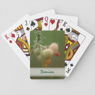 Rare wild South-African flowers. Playing Cards
