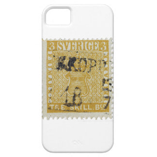 Rare Yellow 3 Skilling Stamp of Sweden 1855 iPhone 5 Cases