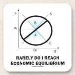 Rarely Do I Reach Economic Equilibrium (Economics) Drink Coaster