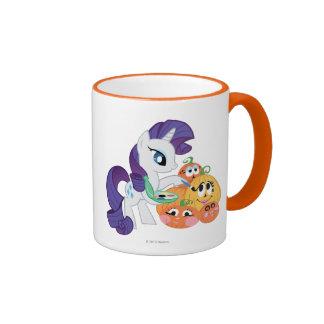 Rarity Painting Pumpkins Ringer Coffee Mug
