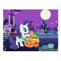 Rarity Painting Pumpkins Postcard
