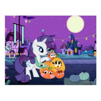 Rarity Painting Pumpkins Post Cards