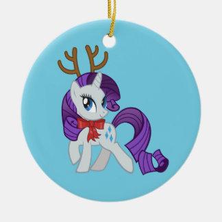 Rarity Reindeer Ceramic Ornament