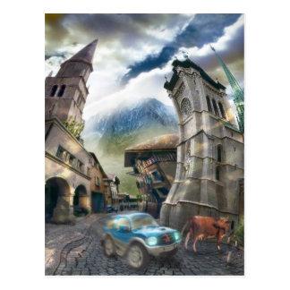 Raro Pueblo (fragment) - Postcard