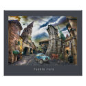 Raro Pueblo - Poster with gray frame print