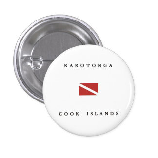 Rarotonga Cook Islands Scuba Dive Flag Pinback Button