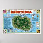 Rarotonga, islas de cocinero posters