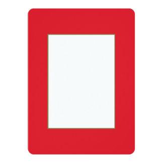 Rarotonga Red-Hibiscus Red-Ruby Red Card