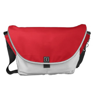 Rarotonga Red-Hibiscus Red-Ruby Red Messenger Bag