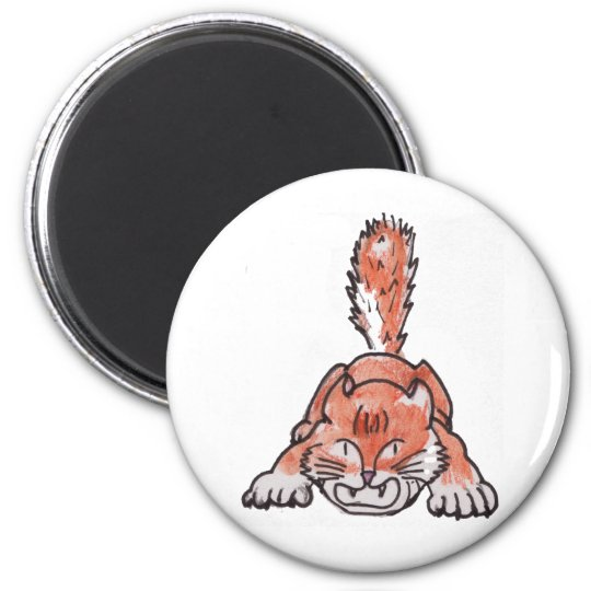 Rarr Polydactyl Kitty Magnet